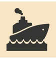 Flat in black and white mobile application ship vector image