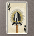ace of spades vintage playing card vector image vector image