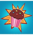 Muffin cake sweet food vector image