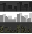 City skyline set vector image