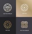logo design templates and badges in trendy linear vector image vector image