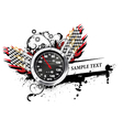 speedometer with grunge vector image vector image