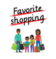 Favorite family shopping process icon on white vector image