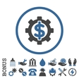 Financial Options Flat Rounded Icon With vector image
