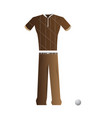 isolated golf uniform vector image