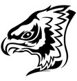 menacing eagle black outline vector image