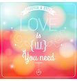 Romantic card on a soft blurry background vector image