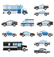 Set of police cars vector image