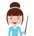 woman female teacher character vector image