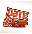 Date fruit vector image
