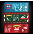 Invitation Merry ChristmasTypography vector image