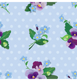 Seamless pattern with beautiful flowers vector image vector image