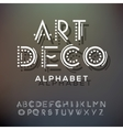 Alphabet letters collection art deco style vector image vector image