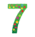 floral number 7 vector image