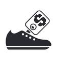shoe price icon vector image vector image