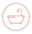 Bathtub with shower line icon vector image