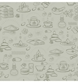 seamless pattern with spa accessories vector image