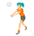 Girl Playing Volley Ball vector image