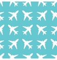 Seamless pattern with airplanes silhouettes vector image