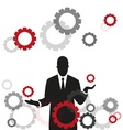 wheels and businessman vector image
