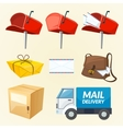 Mail delivery set of elements vector image
