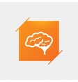 Brain sign icon Intelligent smart mind vector image