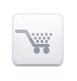 white Shopping icon Eps10 Easy to edit vector image vector image