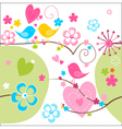 Whimsical seamless background vector image