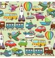 cartoon transport pattern vector image