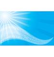 music background - blue flyer vector image
