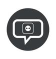 Round socket dialog icon vector image