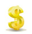 dollar design vector image vector image