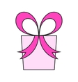 Pink gift box Packing for surprise Flat color vector image