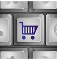 button with shopping cart vector image