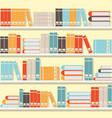 colorful book on shelveslibrary or book store vector image