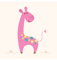 Cute pink Giraffe character for baby room vector image