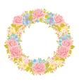 flower wreath Floral Frame vector image