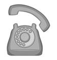 Phone icon gray monochrome style vector image