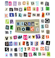 Ransom Note 2- Cut Paper Letters Numbers vector image