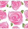 Seamless pattern with roses for your design vector image