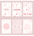 Set of beautiful floral templates for invitations vector image