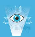 surveillance vision technology artificial vector image