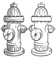 doodle fire hydrant vector image vector image