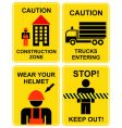 construction area signs vector image vector image