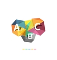 ABC infographics vector image