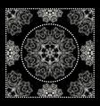 black bandana print vector image