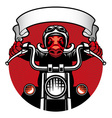 wildhog biker vector image
