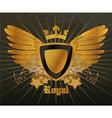 vintage gold emblem vector image vector image