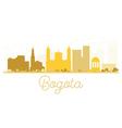 Bogota City skyline golden silhouette vector image