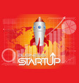 business startup background vector image